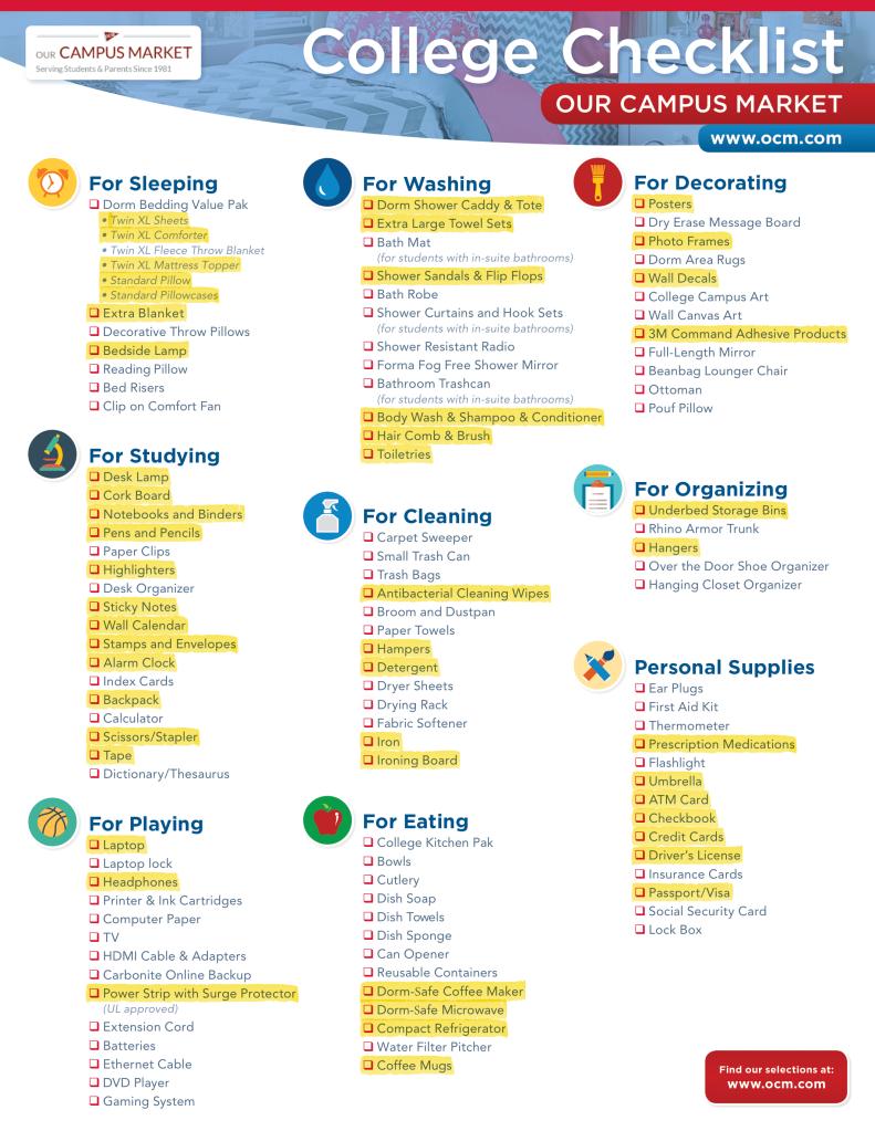 OCM_Checklist